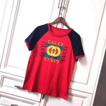 cc spbest gucci red/blue t shirt