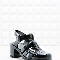 JuJu Babe Jelly Heel Sandals in Black - Urban Outfitters