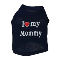 Gray or Blue I Love My Mommy Summer Dog Tshirt Shirt Coat Vest Clothing for Dogs