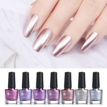 UR SUGAR 6ml Mirror Effect Metallic Nail Polish Purple Rose Gold Silver Chrome Nail Art Varnish For Nails Manicure Lacquer