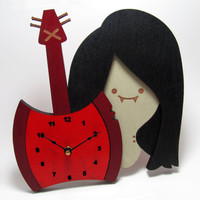 Marcelene the Vampire Queen Clock
