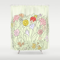 Blooms Shower Curtain by anipani