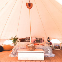 Vintage Bell Tent Style, Classical Sibley Design, 5m Cotton Canvas Tent for Glamping, Camping & Festivals, Tipi, Yurt
