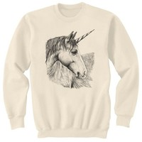 Unicorn Horse Art Sweatshirt Ultra Cotton Small - 2XL
