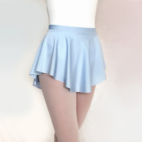 Ballet Skirt Light Blue Lycra/Spandex- SAB Skirt Baby Blue- Royall Dancewear- dance lyrical leotard