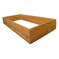 Wester Red Cedar Wood 3-Ft x 6-Ft Raised Garden Bed Planter Kit - Made in USA