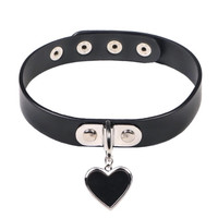 Charmed Heart Leather Choker