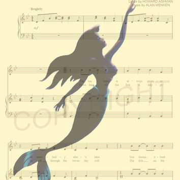The Little Mermaid Ariel Under the Sea Art Print