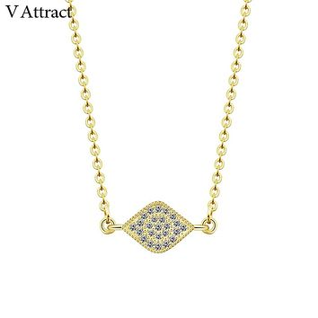 V Attract Yoga Jewelry Vintage CZ Evil Eye Necklaces & Pendants Boho Style Hamsa Charm Collares Chokers Femme Luck Bijoux