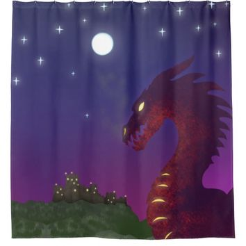 Medieval Dragon Shower Curtain
