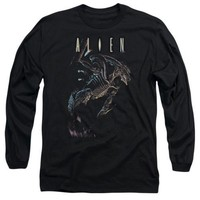 Alien Movie Form And Void Licensed Adult Long Sleeve T Shirt