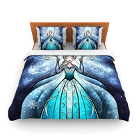 "Mandie Manzano ""The Snow Queen"" Frozen Fleece Duvet Cover"