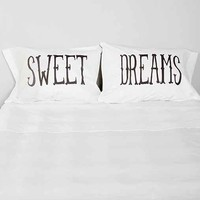 The Rise And Fall Sweet Dreams Pillowcase - Set Of 2- Black & White One