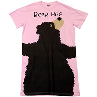 Bear Hug Pink Nightshirt | LazyOne - Pajamas, Funny Boxers & Other Fun Wearables!