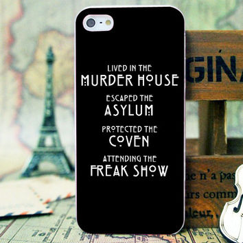 American Horror Story Black Quote - iPhone 4/4s/5/5s/5c - iPod 2/4/5 - Samsung Galaxy s2/s3/s4/s5 Case