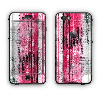 The Vintage Worn Pink Paint Apple iPhone 6 Plus LifeProof Nuud Case Skin Set