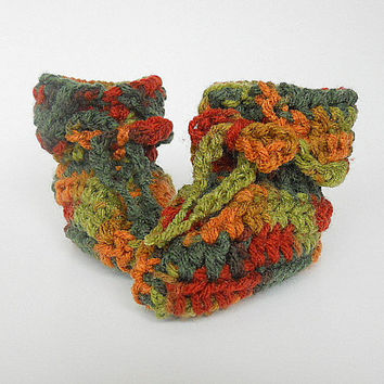 Baby Boy Camo Booties 3 To 6 Months  Infant Girl Camouflage Slippers Children Fall Crochet  Shoes