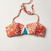 Lauren Moffatt Corail Bandeau Top by Anthropologie Red Motif