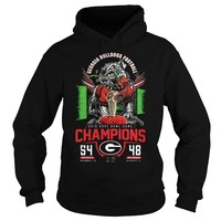 Georgia Bulldogs Football Champions 2018 T-Shirt Hoodie