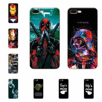 Deadpool Dead pool Taco Charming  Spiderman Case Coque For iphone 7 Plus Soft TPU Phone Cases For Fundas iphone 7 Plus 7Plus Back Cover Capa AT_70_6
