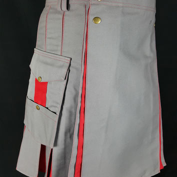 Gray HyBrid Utility kilt Custom Made