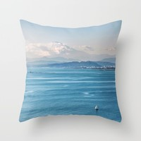 Bayside view of Tokyo Japan Throw Pillow by Aheiay