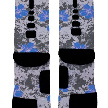 Blue Floral Custom Nike Elites