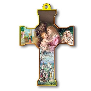 "CROSS WALL HOLY FAMILY 6"", NATIVITY SCENE"