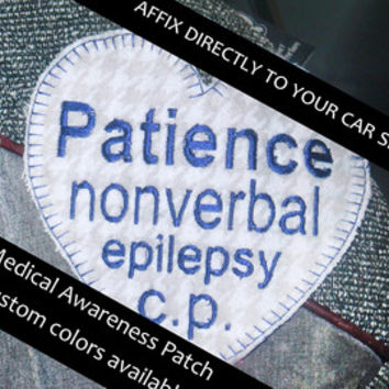 Medical Awareness Safety Patch Special Needs Seat belt wrap medical alert for harness, emergency belt cover special needs alert embroidered