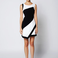 Colorblock Asymmetric Dress