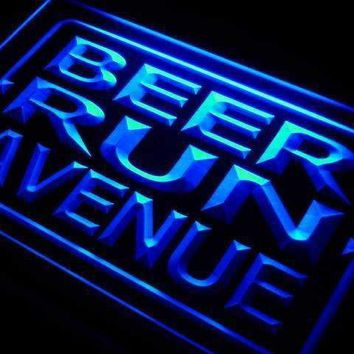 Beer Run Avenue LED Neon Light Sign