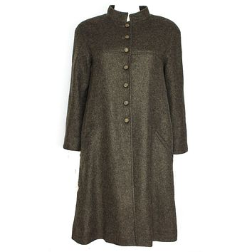 Chanel New Long Cashmere and Mohair Coat (05A) Grey Green