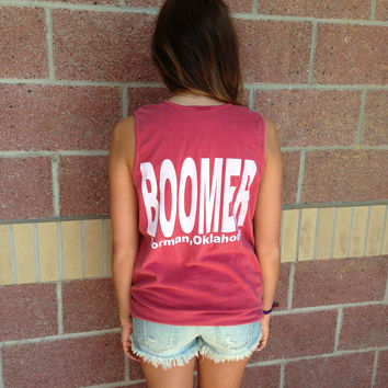 OU boomer Norman comfort colors tank top