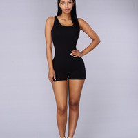 Launch Romper - Black