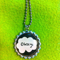 The Fault In Our Stars John Green Inspired Bottle Cap Necklace