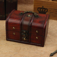 Jewelry Storage Box Hot Sale Vintage Wooden Accessory Box [11676872719]