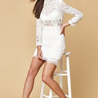 Selfie Leslie Mock Neck Lace Dress at PacSun.com