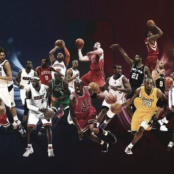 CREYUG7 All Star Lebron James Kobe Bryant Michael Jordan Basketball NBA Poster