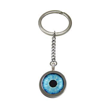 Blue Eye Design Pendant Keychain