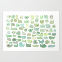 80 catcti Art Print by Sara