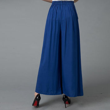 #1627 2017 Summer Wide leg pants Loose trousers women Skirt pants Pantalon femme Flare pants Wide trousers Pantalones mujer
