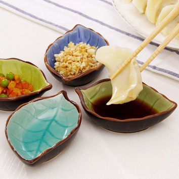 Leaf Shape Ceramic Plates