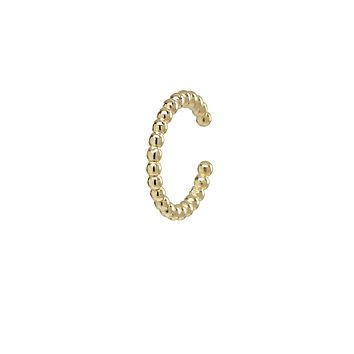 10k Solid Gold Beaded Middle Ear Cuff