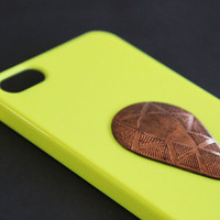 Chartreuse iPhone 5 Case, Neon, Lime, Unique, Tribal, Copper, iPhone 4 Case, iPhone 4s Case, Samsung Galaxy S3 Case, Samsung Galaxy S4 Case