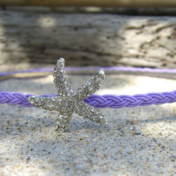 Starfish Headband-CHOOSE COLOR-Starfish Hair, Starfish, Beach Wedding, Flower Girl, Destination Wedding, Mermaid Party, Little Mermaid