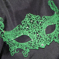 Green Soft Lace Masquerade Mask - Available in Lots of Colors