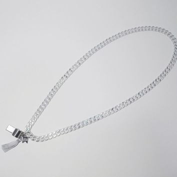 [LMM] whistle long chain necklace