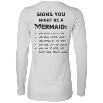 Signs You Might Be A Mermaid Ladies' Jersey LS Missy Fit