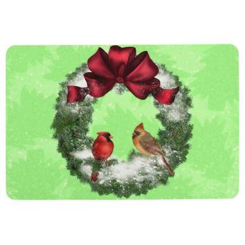 Christmas Birds Floor Mat