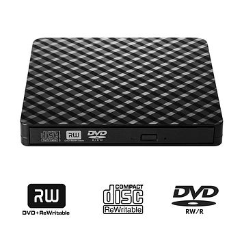 Portable USB 3.0 External DVD Drive CD/DVD-RW Drive Writer / Burner High Speed Data Transfer for Laptop Notebook PC Desktop Support Windows XP/Vista/7/8/10 Mac OSX